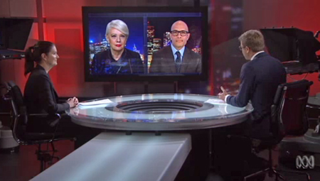 Prof Western joins Lateline