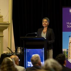 Professor Rhema Vaithianathan presenting